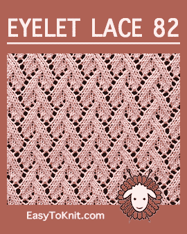 #Knit Eyelet Lace Pattern 82