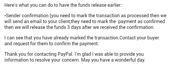 Dropped like a Hatputito: PayPal   How to Release Funds From