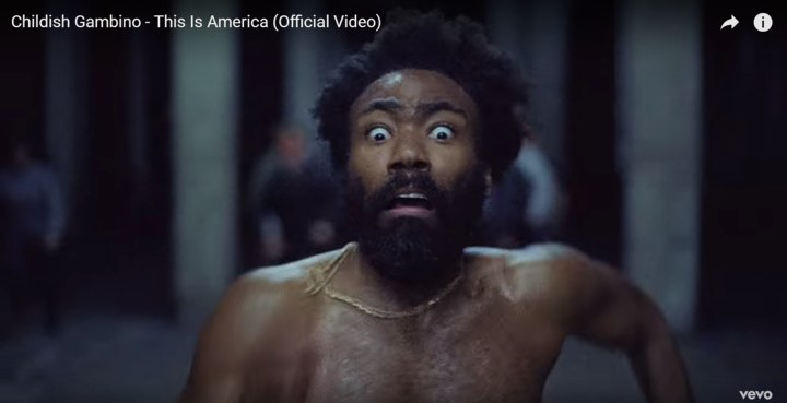 Childish Gambino's This is America - Easter egg - It is the same bright car parking spot we watched throughout the video and yet, now it almost appears as though he is being chased through dark woods as he seeks to escape, much like the African American slaves from two centuries ago, does it not?