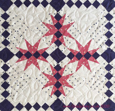 Linen, 'Pathway to the Stars' Quilt made by Pauline,  quilted by Frances Meredith