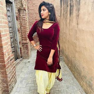 Indian girl in salwar suit image Navel Queens