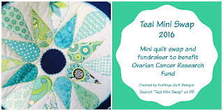 Teal mini quilt swap