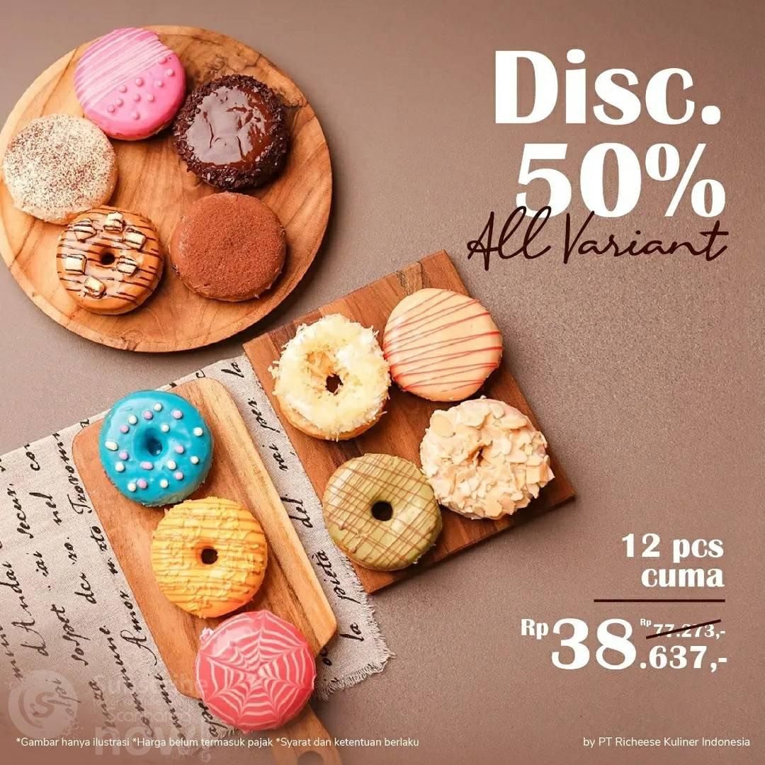 Promo Rich Coffee & Donut Harga 12 Donut cuma Rp. 38.637 Aja
