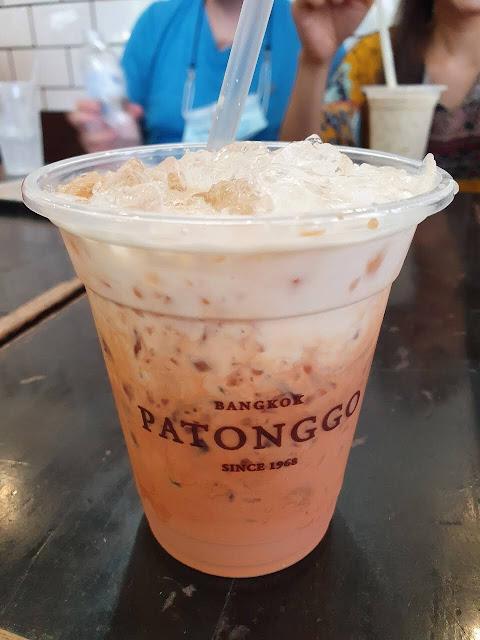 Thai iced tea, or cha yen at Patonggo Cafe, Bangkok