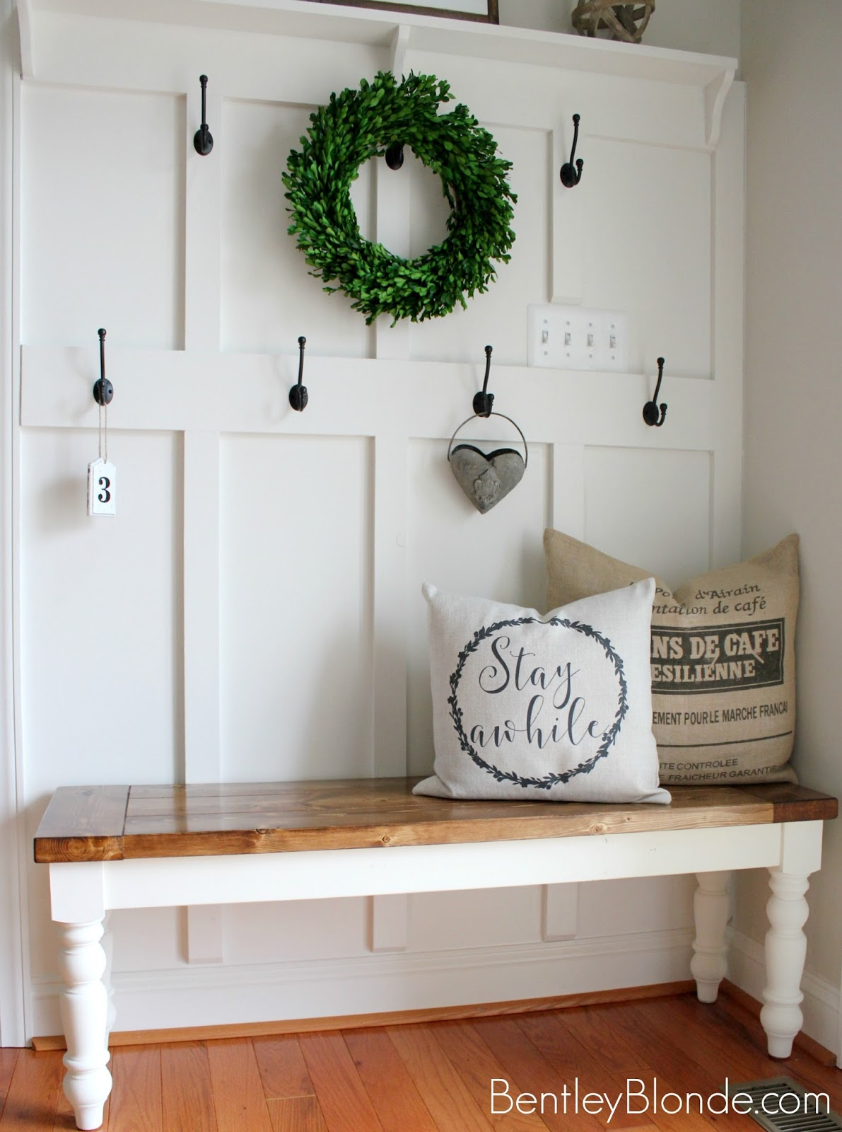 Bentleyblonde Diy Farmhouse Bench Tutorial Bentleyblonde