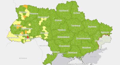 З 1 серпня країну поділено на 4 карантинні зони