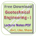 Lecture Notes on Geotechnical Engineering - I PDF