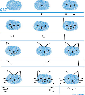 Ed Emberley's Cat Drawing Page
