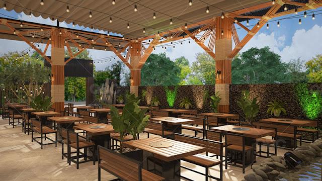 Một nhà hàng với thiết kế không gian thoáng đãng sẽ ghi điểm cộng với thực khách ngay từ cái nhìn đầu tiên