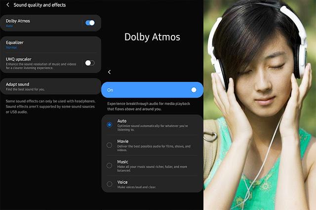 Cara Setting Dolby Atmos Samsung Galaxy A Series