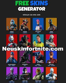 Neuskinfortnite.com Get Free Skins Fortnite From Neuskin fortnite.com