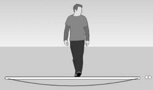 Deflexión con dos guaduas unidas horizontalmente