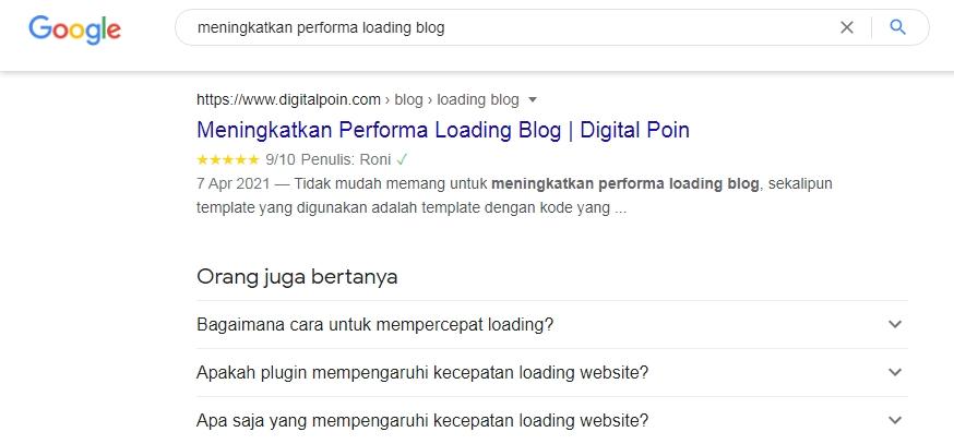 Memasang Rating Bintang Artikel Blog Apakah Perlu