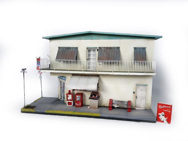 scale model of the 5 Brothers Cuban sandwich and grocery in Key West, Florida