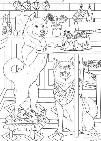 Dogs coloring pages 31