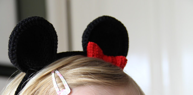 Crochet, diadeem haken, Gehaakt/ crochet, Gemaakt/ DIY, haken, Mickey oren haken, mini mouse oren, Studio Mojo,