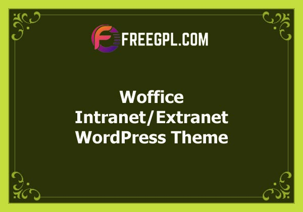 Woffice - Intranet/Extranet WordPress Theme Free Download