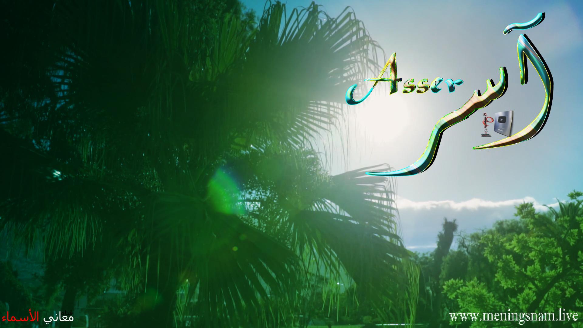 معنى اسم آسر وصفات حامل هذا الإسم Asser
