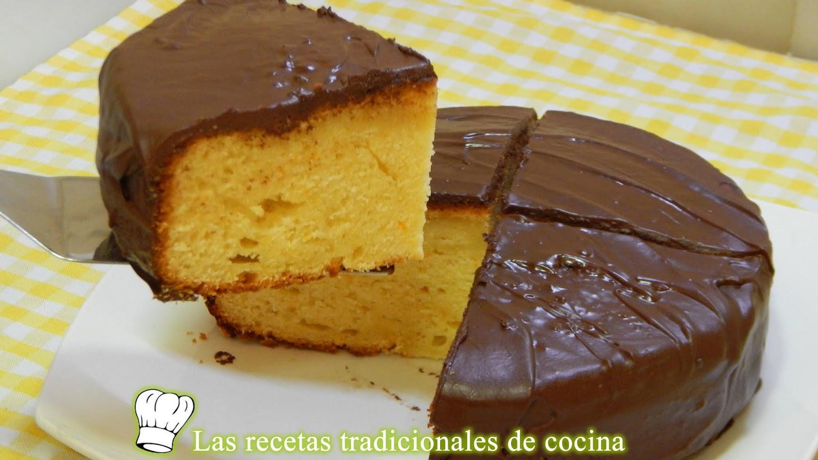 Receta De Bizcocho Esponjoso De Naranja Con Cobertura De Chocolate