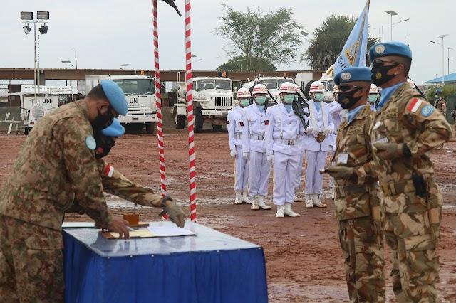 Sertijab Komandan Satgas Batalyon Gerak Cepat di Kongo