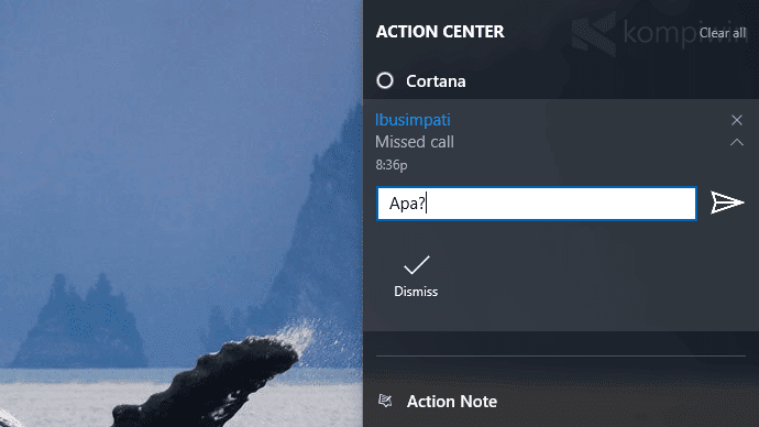 cara dapat notifikasi smartphone di windows 10 pc