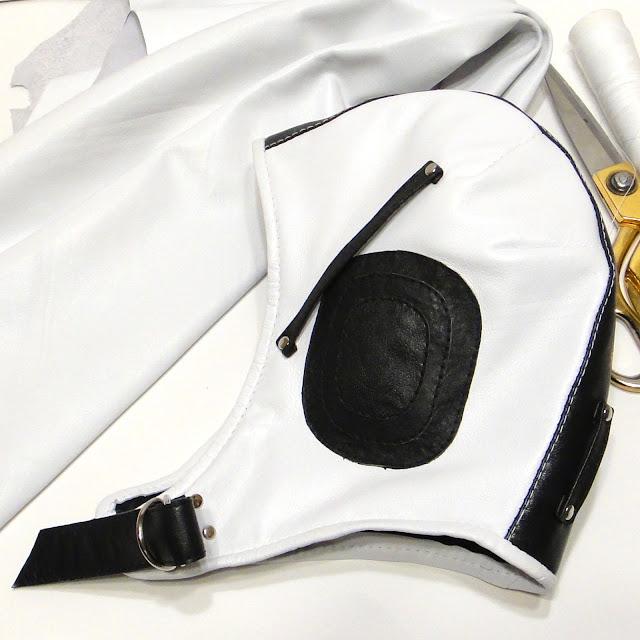Кожаный шлем: черно-белый, мужской, авиационный. Ручная работа. Варианты доставки: почтовая или курьерская