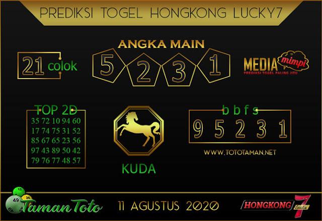 Prediksi Togel HONGKONG LUCKY 7 TAMAN TOTO 11 AGUSTUS 2020
