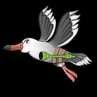 arte conceptual gaviota volando