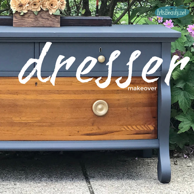 Vintage empire style lowboy dresser makeover before and after using general finishes milk paint karin chudy diy artisbeauty.net