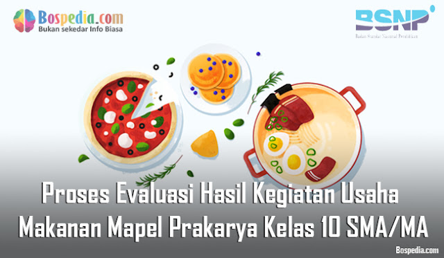 Materi Komponen Evaluasi Hasil Usaha Mapel Prakarya kelas 10 SMA/MA