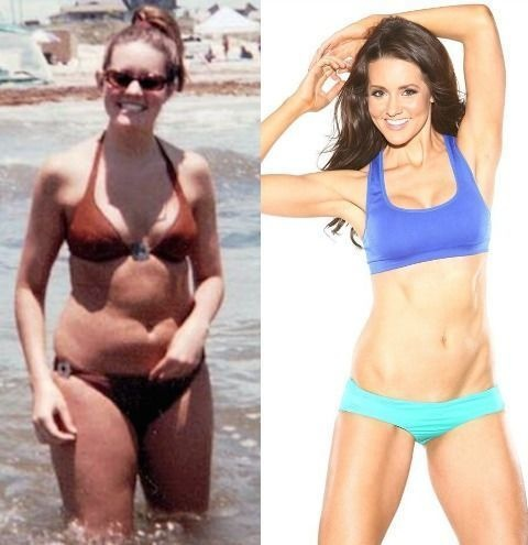 #1. Believe it or not, the woman on the right was once ridiculed and called a whale. - 23 Inspirational Before/After Photos Of People Who Can Say 'I Did It.'