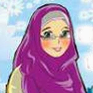 gambar kartun muslimah cantik cute