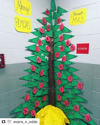 Who doesn't love free? In this post are a bunch of free math bulletin board printables, from posters to math pennants that you can download for your classroom today. Ms. Evans displayed the free order of operations math pennants as a Christmas tree in her classroom!