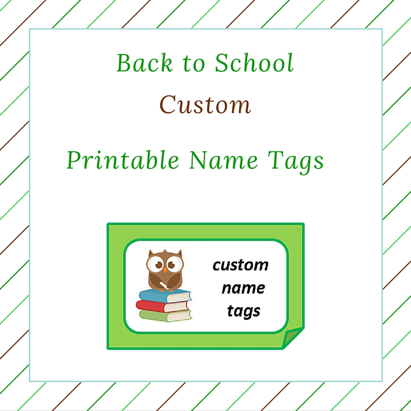 Boys Premium Name Labels: Back To School Custom (boy) Name Tags (free Printable