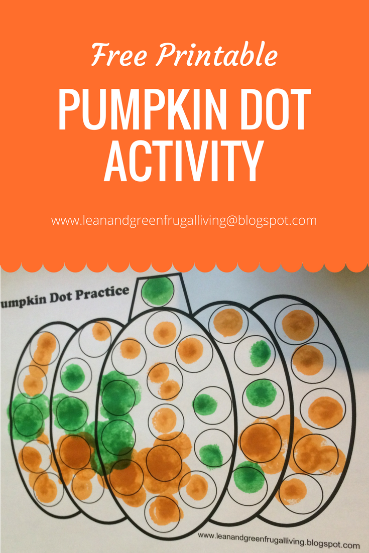 Free Printable! Pumpkin Dot Practice