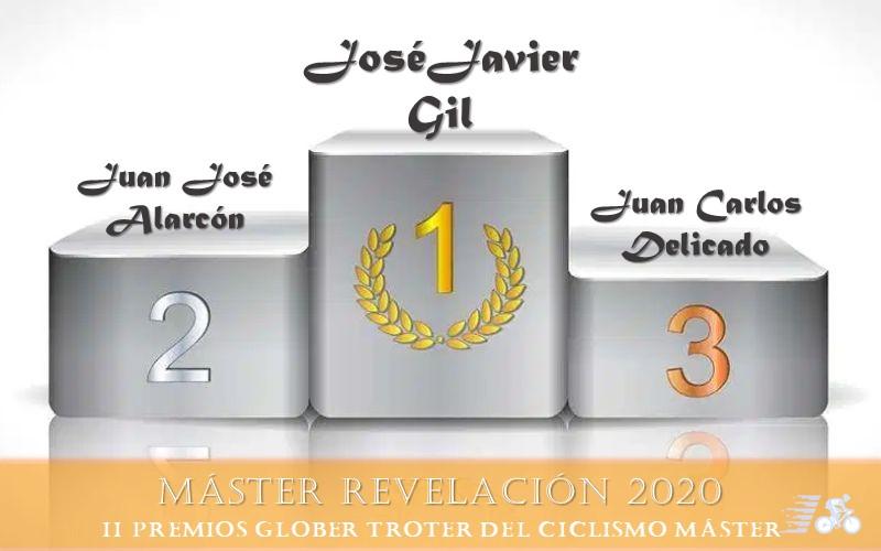 Premio y finalistas al Ciclista Revelación Máster 2020
