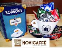 Logo Vinci gratis Tazza con 50 cialde CafféBorbone