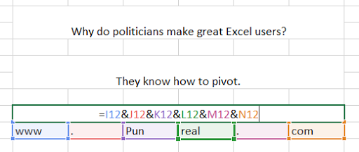This Excel pun is politically charged.