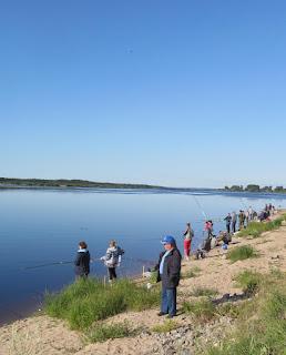 соревнование рыбаков в Устье