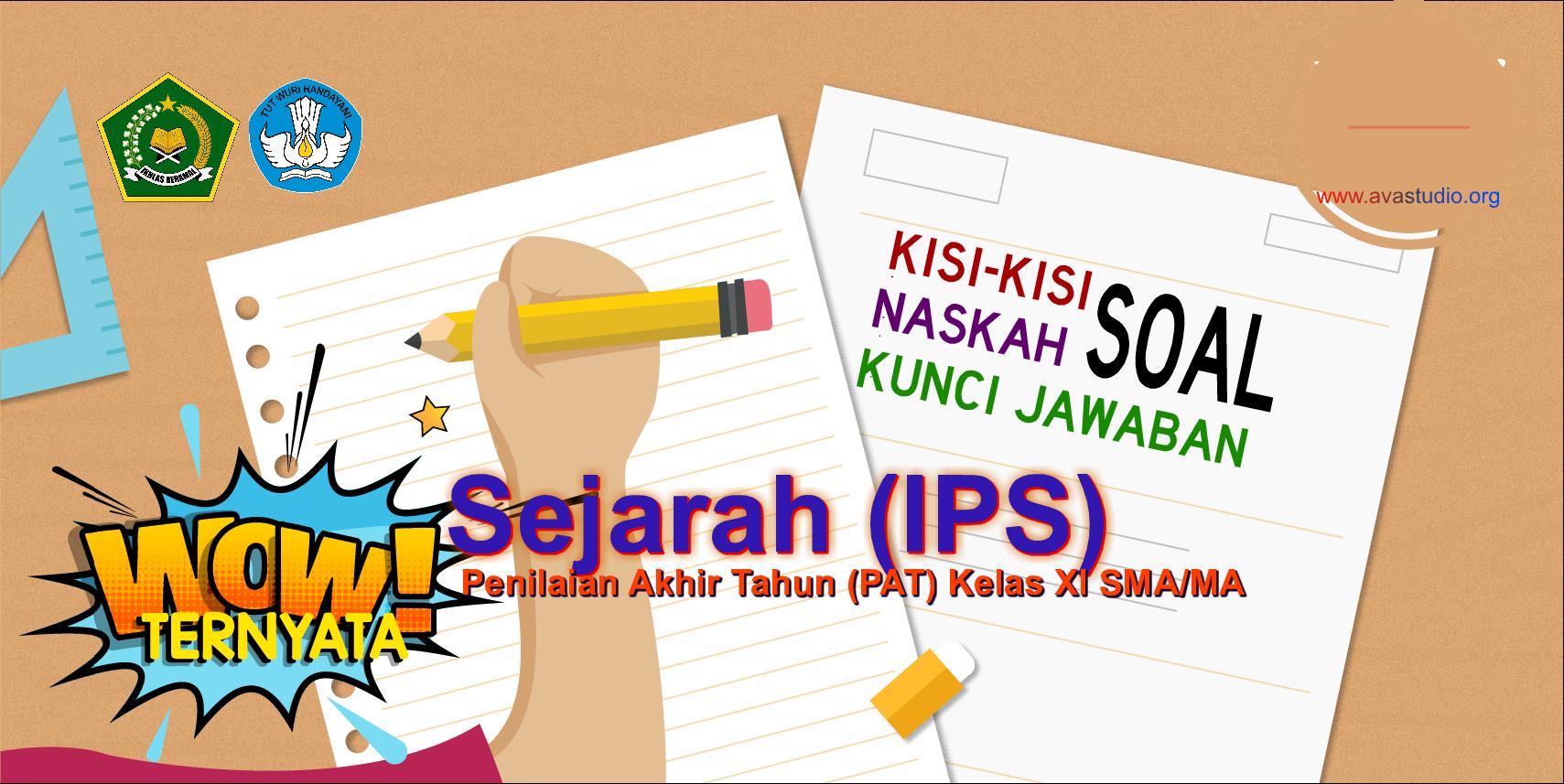 Kisi-Kisi, Naskah Soal dan Kunci PAT Sejarah Kelas XI (IPS) SMA/MA Kurikulum 2013