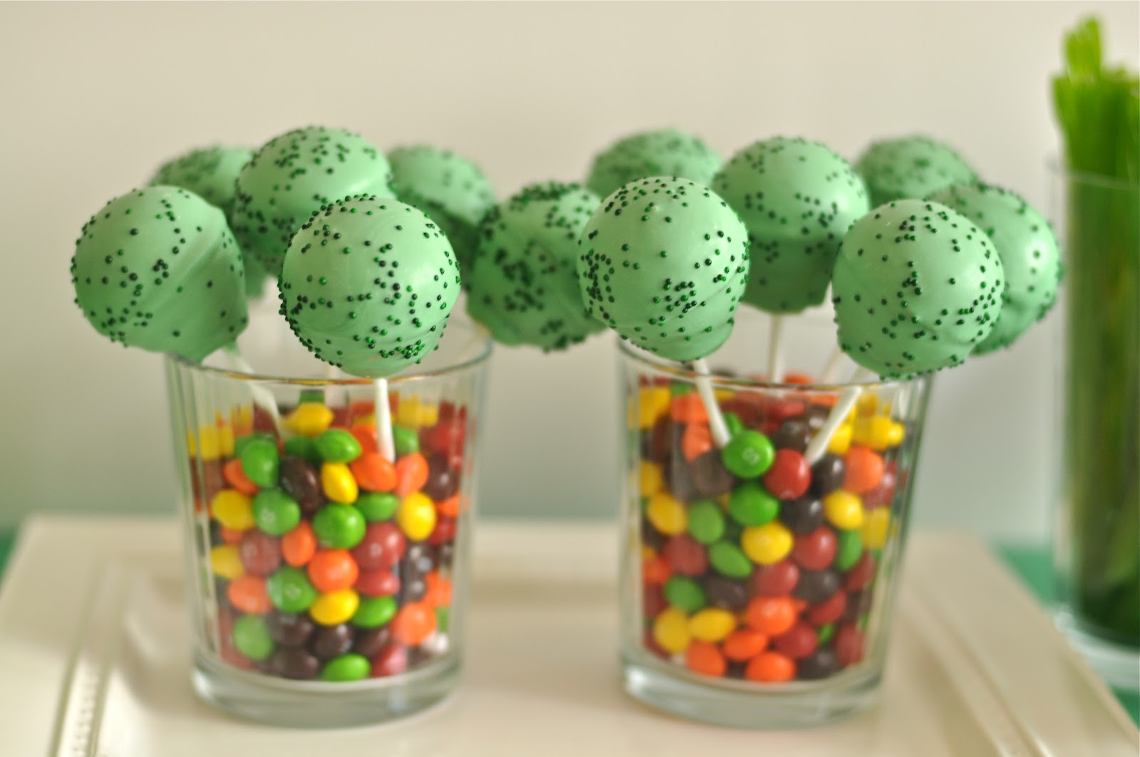 St Patrick's Day Rainbow Inspired Party Cake Pops