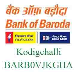 Vijaya Baroda Bank Kodigehalli Branch New IFSC, MICR