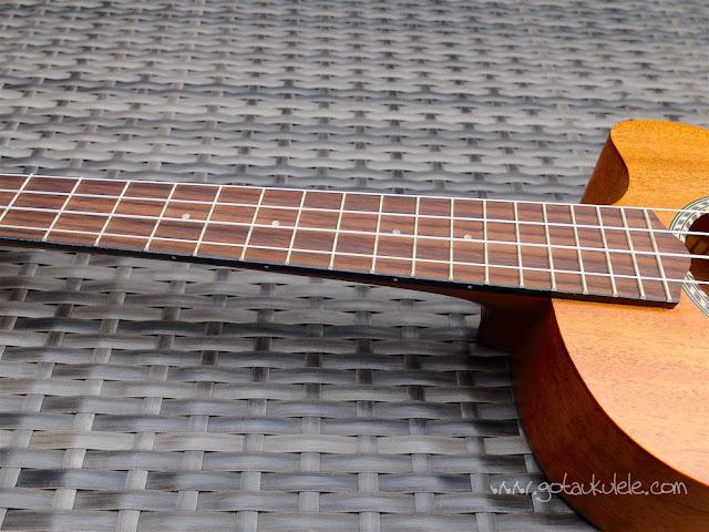 Cordoba 20TM-CE Tenor Ukulele fingerboard