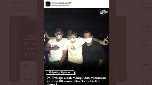 Dokter Tirta Kepergok di Bar saat Pandemi, Reza Arap: Masker Mah Gimmick