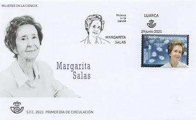 sobre, filatelia, Margarita Salas, matasellos