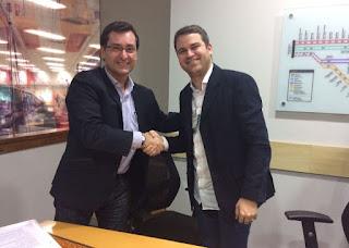 José Carlos presidente da SuperVia e Rodrigo Pacheco vice-presidente da Mocidade