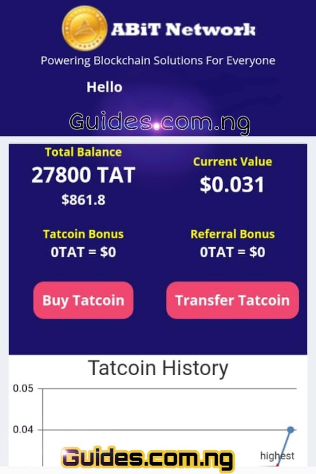 Tatcoin: All You Need To Know About Abitnetwork Coin (Tatcoin)