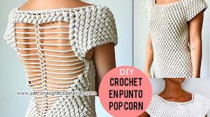 Cómo Tejer Vestido Crochet Punto Garbanzo / Tutorial