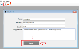 text to speech suggestions box