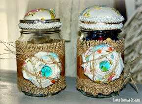 Pin Cushion Mason Jars Recycled